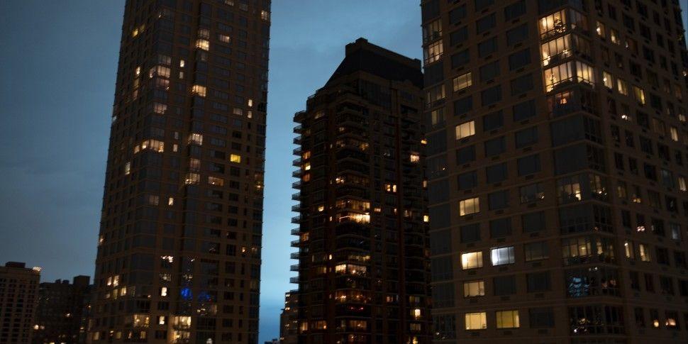 New York Night Sky Turns Brigh...