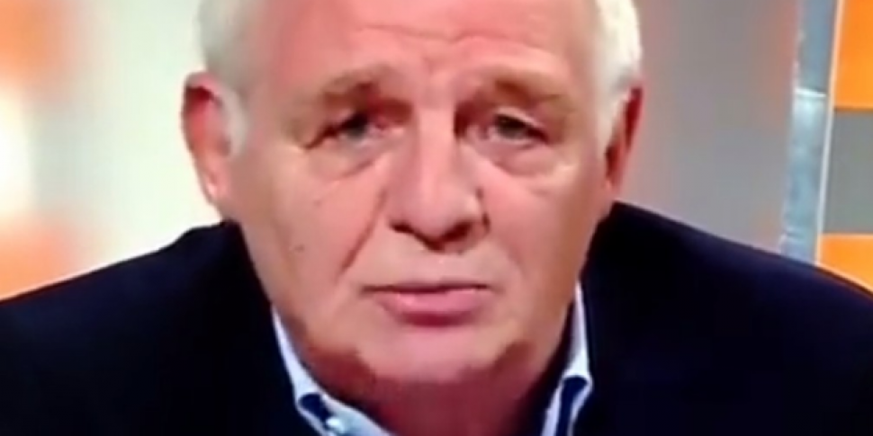 Eamon Dunphy caught out on cam...